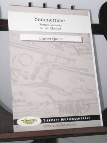 Gershwin G - Summertime for Clarinet Quartet arr Marshall A
